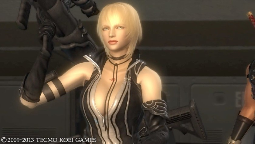 Sonia is a CIA agent working with Ryu.  I guess leather fetish wear is proper agent attire in the DOA/NG universe