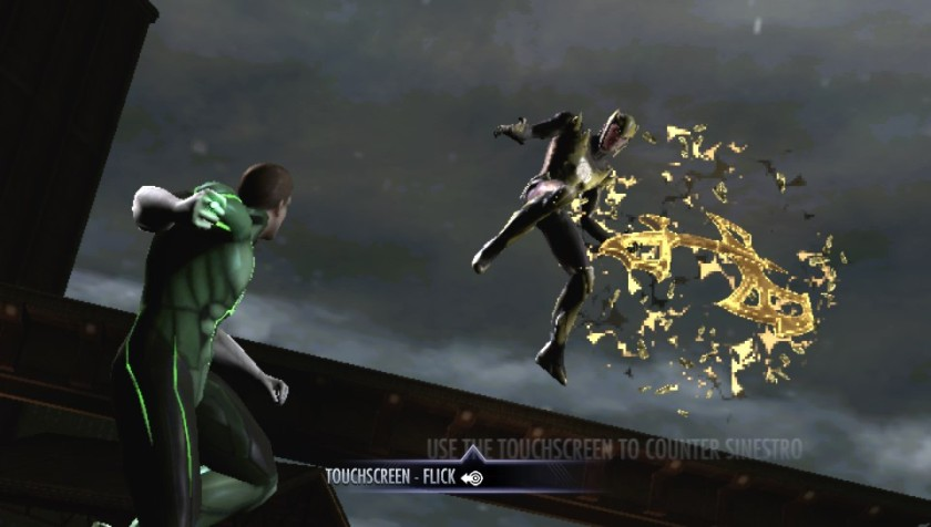 Green Lantern and Sinestro .