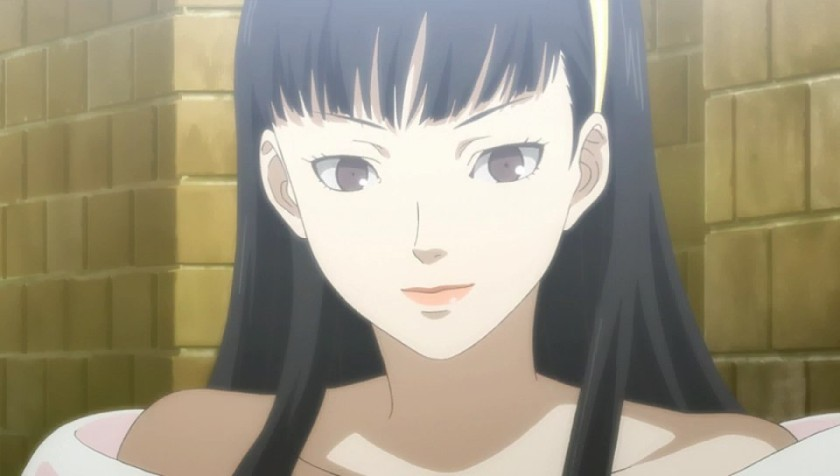 Anime cut scenes tell the story.  Yukiko (or her shadow?) appears on the midnight channel looking for her Prince.