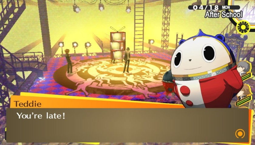 Teddie is the friendliest resident of the TV/Shadow realm by far, but is no less weird,