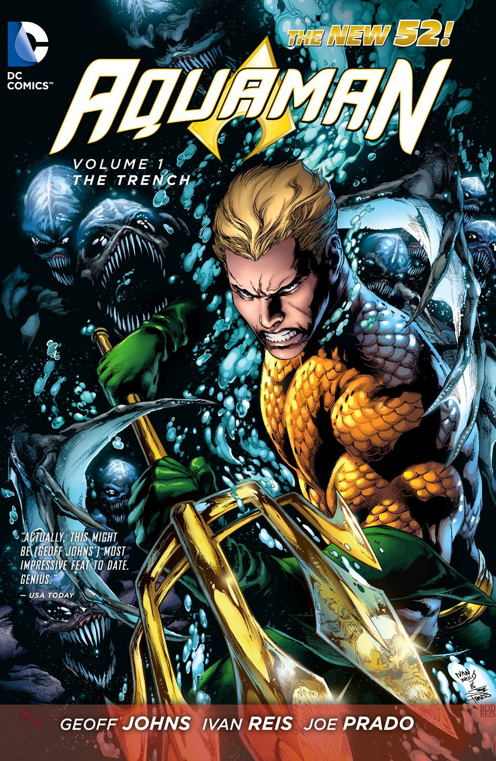 Graphic Novel Review- Aquaman Vol 1: The Trench