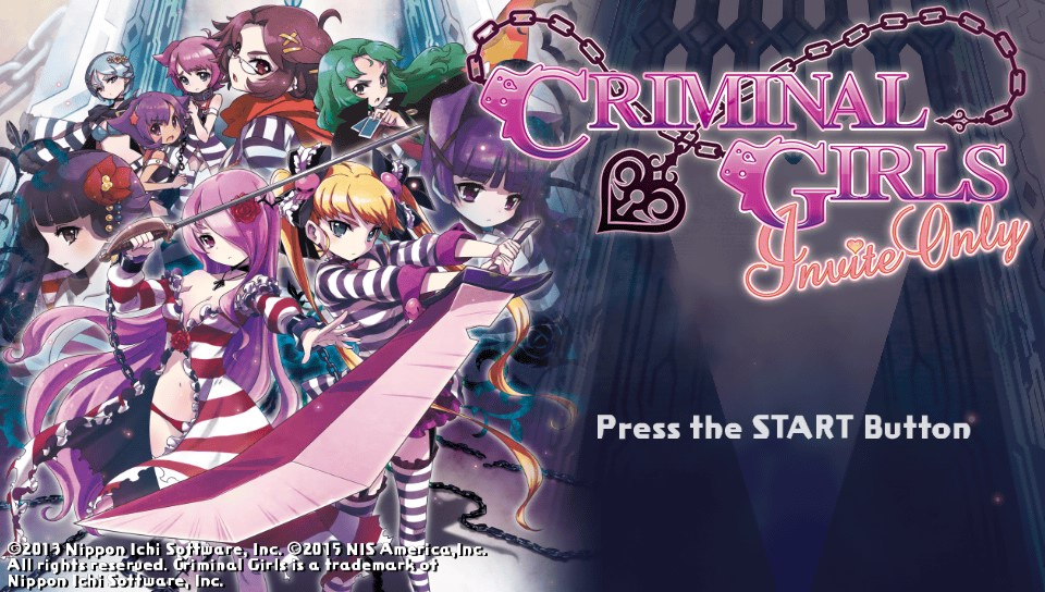 PS Vita Review:  Criminal Girls: Invite Only