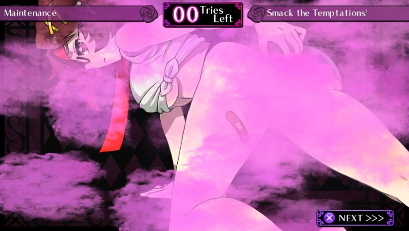 The pink mist is NIS America attempt at self censorship.  I think it makes it worse.