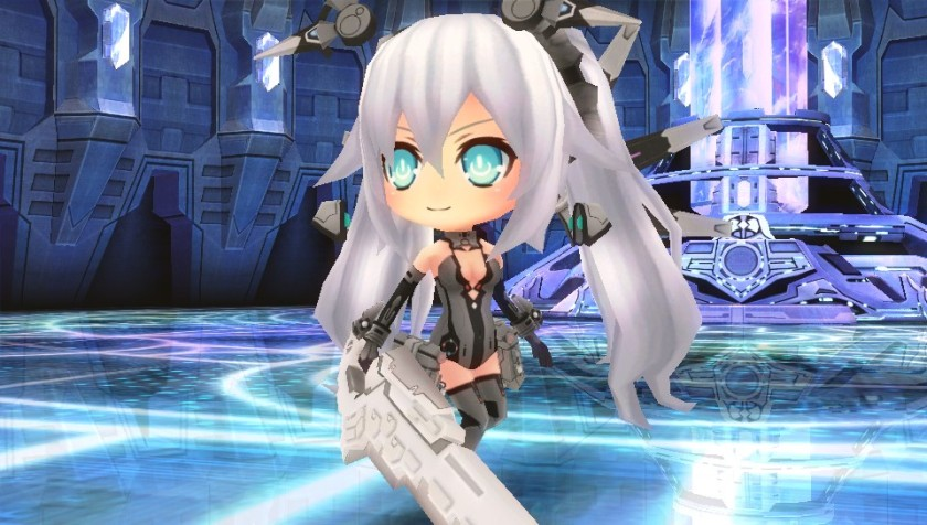 Noire in her HDD form, Lady Black Heart