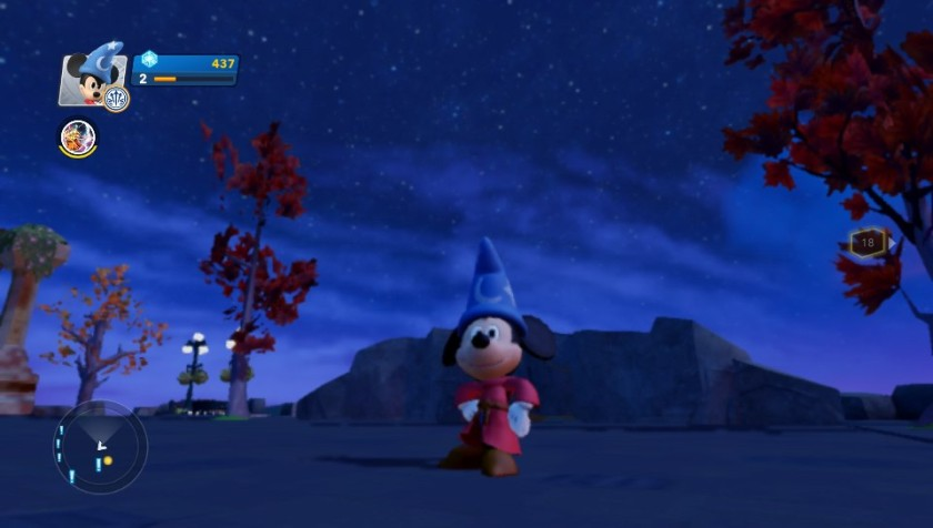 Sorcerers Apprentice  Mickey (from the first game) can be used in the Toybox