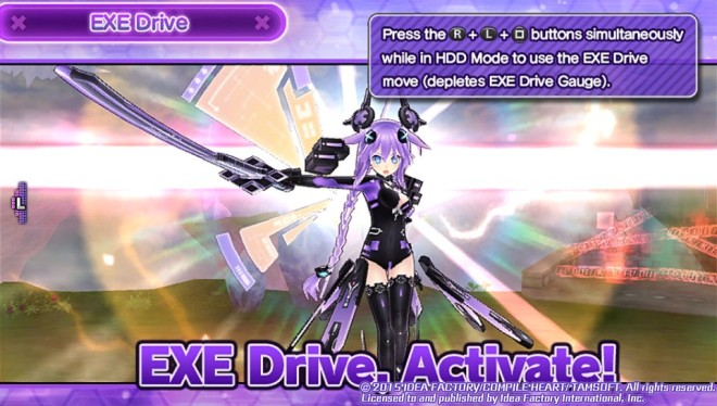 Neptune (As Purple Heart) going into her EXE drive