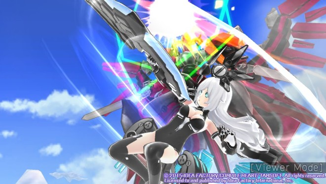 Noire is more than a match for the Mech in her HDD form