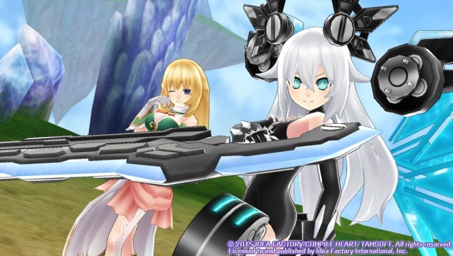 Noire (as Black Heart) and Vert team up!