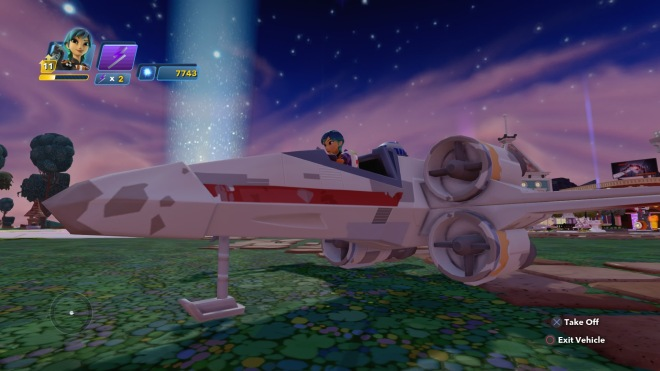 Sometimes you will need to take to the skies in an X-wing to defend the Hub from the Empire