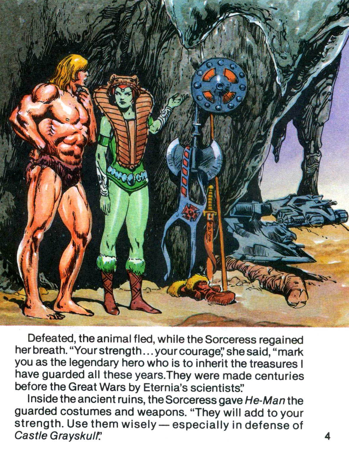 The original mini-comics were more like a story book, with different takes on He-Man and the Sorceress